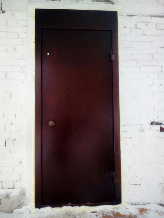 железные полимерные двери